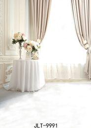 vinyl photography backdrop window 2019 - white window photography backdrops flowers pure background vinyl cloth customize backgrounds for photo studio wedding en