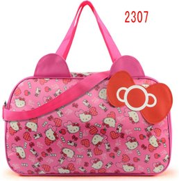 a1329b2bad Women Travel Duffel Bag Hello Kitty Cartoon Handbags weekend trip tote  Luggage Bags Bolsa Feminina Girls School Bag
