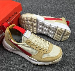 Camp Shoes For Men Australia - Tom Sachs Craft Mars Yard 2.0 Space Camp Running Shoes For Men AA2261-100 Natural Sport Red Maple Authentic Sneakers Sports Size 40-47