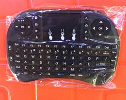 Mini Rii i8 Беспроводная клавиатура 2.4G Английская воздушная мышь Клавиатура Пульт дистанционного управления Сенсорная панель для смарт-Android TV Box Notebook Tablet Pc