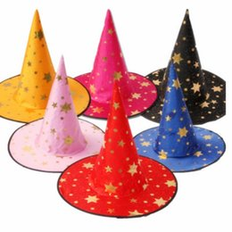 Chinese  Witch Hats for kids halloween party Masquerade Wizard five-star Hat Cosplay Halloween Hats Cartoon Hats Party Decor manufacturers