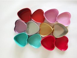 tin chemicals 2019 - 200pcsColorful Heart Shape Tin Box Tea Candy Chocolate Jewelry Storage Box Christmas Gift Container Case lin3990 cheap t