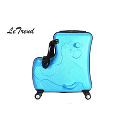 b8521a6f8aba LeTrend Cute Kids Trolley Suitcases On Wheels Children Carry On Spinner Rolling  Luggage Travel Bag Student School bag