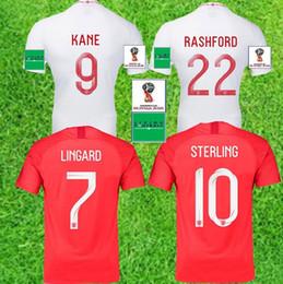 5b8898a6668 Top quality 2018 England World Cup Soccer Jersey Kit 9  KANE 10 STERLING  11 VARDY 19  RASHFORD 20 DELE Football Shirts