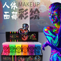 Body Art Face Paint Canada - Intense Neon Face Body Paint Color Dance Festival Rave Tattoo Paint Oil Painting Art Halloween Party Dropshipping Wholesale #Y