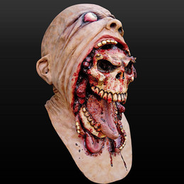 $enCountryForm.capitalKeyWord Australia - HIGH QUALITY !2017 Hot Full Face Melting Zombie Bloody Undead Horror Adult Latex Scary Insane Halloween Mask