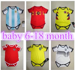 2018 World Cup Spain Mexico Germany ozil Colombia Argentina Messi Belgium  LUKAKU Sweden Ibrahimovic Russia for baby 6-18 months. 9a86d785f