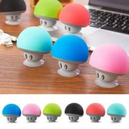 $enCountryForm.capitalKeyWord Australia - Wireless Bluetooth Speaker Heavy Bass Stereo Music Player Portable Mini Mushroom Speaker Cute Loudspeaker Suction Cup Subwoofer