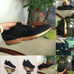 cd02616cae674 new black gold zx flux flattie Breathable mesh fabric men women sports  casual shoes running shoes size 36-45