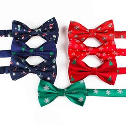$enCountryForm.capitalKeyWord NZ - Free Shipping TIESET 2018 New Christmas Tree Candy Snowflake Bow Tie Christmas Gift For Man Spot Wholesale
