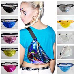 $enCountryForm.capitalKeyWord Canada - Fashion Unisex Waistpacks Fanny Bags Chest Pack Sparkle Festival Handbags Waist Bag Cool Metallic Silver Transparent 21 Colors 30*16cm