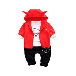 cheap clothes china NZ - baby boy clothes male children clothing 3 pieces sets cheap china products boy jackets coat outerwear t shirt pants trousers