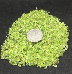 $enCountryForm.capitalKeyWord NZ - Olivine Natural Green Peridot Gravel Crystal Jewelry Quartz Tumbled Stone Minerals Chips For Wedding anniversary Gift decoration