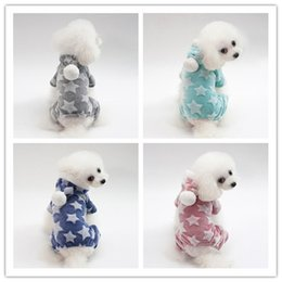 pet fleece jacket 2019 - Wholesale 5 size dog costume high quanlity coral fleece pet clothes teddy poodle autumn winter warm dog apparel 4 color