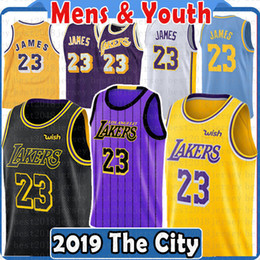 3f359ca31 Top 2019 2018 Los Angeles 23 LeBron James Jersey Lakers 22 DeAndre Ayton 77  Luka Doncic 35 Marvin Bagley III The City new Basketball Jerseys