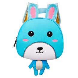 $enCountryForm.capitalKeyWord Canada - TOCHANG Children 3D Cute Animal Design Backpack Toddler Kid Neoprene School Bags Kindergarten Girls Boys Cartoon Zoo Rabbit