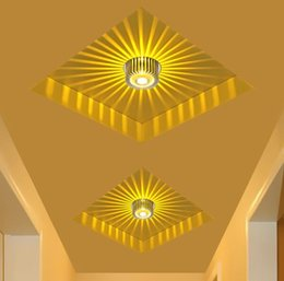 Lights & Lighting Ceiling Lights Home Led 3w Hall Light Walkway Porch Decor Lamp Sun Flower Creative Led Ceiling Lights Multicolor Auminun Asile Ceiling Lamps