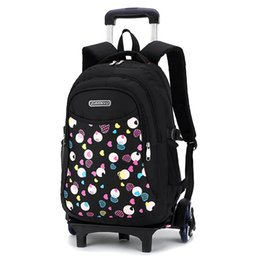 Discount new bags for men - New Girl Backpack for School Randoseru the School Bag Trolley Escolar Com Rodinha Printing Girls Schoolbags Bookbag
