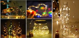 bottle lights NZ - hot selling 2M 20LED Lamp Cork Shaped Bottle Stopper Light Glass Wine LED Copper Wire String Lights For Xmas Party Wedding Halloween