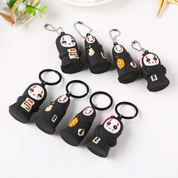 $enCountryForm.capitalKeyWord Canada - Creative Cartoon 3D Keychain PVC Soft Rubber Cute Couple Key Ring Pendant Accessories