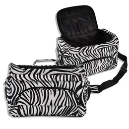 $enCountryForm.capitalKeyWord UK - Professional Hair Tool Bag Zebra Design Hairdressing Salon Portable Tool Case for Hair Styling Tools pincel hair Clip Storage