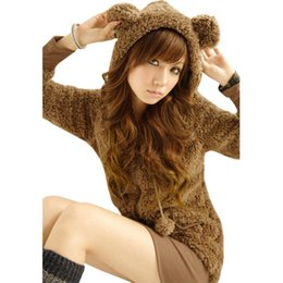 Chinese  Sweater women coat popular cute bear baby rabbit ears women's hooded bomber jacket women's coats clothing vestidos LBD10321 manufacturers