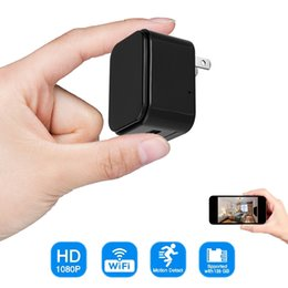Discount motion detection usb charger camera - 1080P WIFI USB charger P2P IP camera HD AC Adaptor plug mini camera Home Security Surveillance Cameras Support motion de