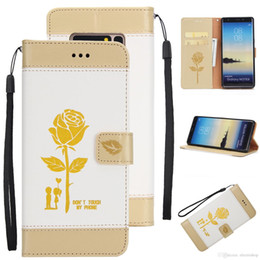 Phone Case For Samsung S5 Australia - retail Leather Wallet Phone Case for Samsung s5 6 7 8 Flip Cover Card Slot Stand Magnetic Fundas printed flower case for iphone x