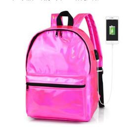 $enCountryForm.capitalKeyWord Canada - New Hologram Laser Backpack Girl School Bag Shoulder Women Rainbow Colorful Metallic Silver Laser Holographic Backpack