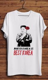 Korea Brand Clothes Australia - Kim Jong Un T Shirt Korea is Best Korea T I Love Funny Mens Parody il T Shirts Casual Brand Clothing Cotton
