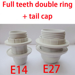 Wholesale E14 E27 Display Stand Advertising Lamp Holder Screw Base Single Ring Double Ring Full Teeth Half Tooth Light Body Tail Cap Optional
