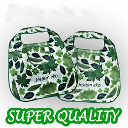 $enCountryForm.capitalKeyWord NZ - Good quality! Green leaf Shopping Bag,Eco-friendly folded Portable handle shoulder Fashion Bag for Travel Grocery