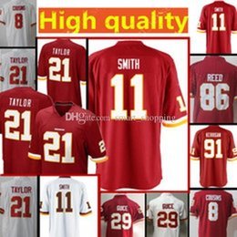 Washington 26 Adrian Peterson Jersey 91 Ryan Kerrigan Redskin 29 Derrius  Guice 21 Sean Taylor 11 Alex Smith 86 Reed Whire Red Limited bb19eb6ea