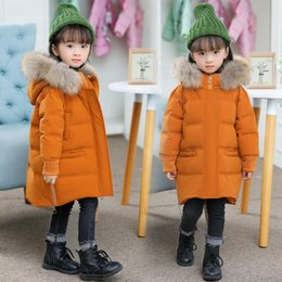 White duck cloth online shopping - Girls Winter Coat Casual Outerwear Warm Thick Hooded Baby Down Jacket for Girl Clothes Big Fur Collar Kids Parkas Toddler Cloth