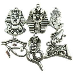 Egypt Pendants Australia - Free shipping 6X Vintage Egypt Egyptian Pharaoh Snake Cobra Guard Horus Ra Amulet Eye Pendant