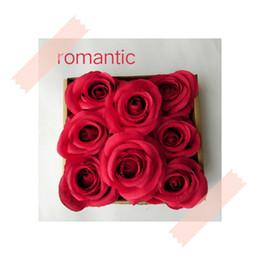 $enCountryForm.capitalKeyWord UK - 30PCS bag Flower Head Silk Rose DIY Scrapbooking Decorative Flower Heads For Wedding Birthday Party Decoration Supplies