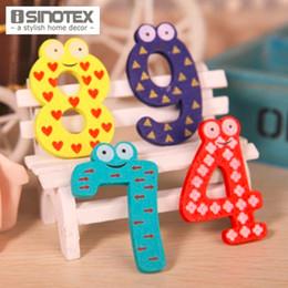 $enCountryForm.capitalKeyWord NZ - 10 PCS Set Cute Number Baby Kids Children Lovely Wooden Alphabet Refrigerator Fridge Magnets Stick Figure Early Learning Toys