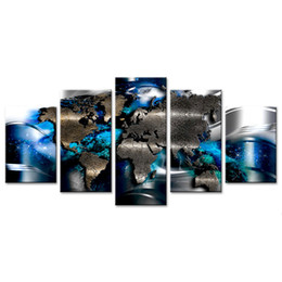 World map art canvas australia new featured world map art canvas abstract world map 5 pieces canvas prints wall art map painting printed on canvas ready to hang for living room with framed gumiabroncs Images