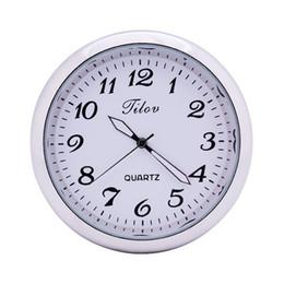 Discount auto clocks car - Fashion Automobile Quartz Clock Car Decoration Watch Ornaments Vehicle Auto Interior Watch Digital Air Outlet Clip White