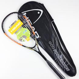 Qualität Kopf Squash Schläger mit Tasche Carbon Squash Schläger Orange Blau Squash Schläger mit Schläger Tasche Kopf Schläger