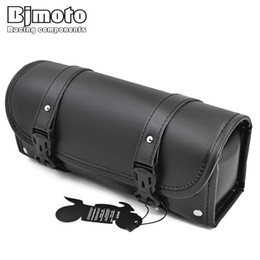 Front Forks For motorcycles online shopping - BJMOTO New Motorcycle PU Leather Front Fork Tool Bag Luggage Saddle Bag For Harley Chopper Bobber Cruiser Dyna Softail Sportster