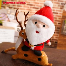 stuffed plush santa Canada - 2018 Cute Santa Claus Plush Toys Stuffed Toys Birthday Christmas Gifts for Children Girls Xmas Toys
