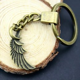Insect Wings NZ - 6 Pieces Key Chain Women Key Rings Car Keychain For Keys Wing 31x15mm