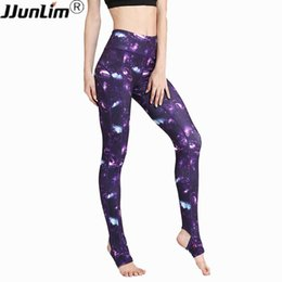 Purple White Yoga Pant NZ - Women High Waist Yoga Pants Printed Fitness Legging Elastic Sport Pants Gym Workout Running Leggings Female Sport Dance Trousers
