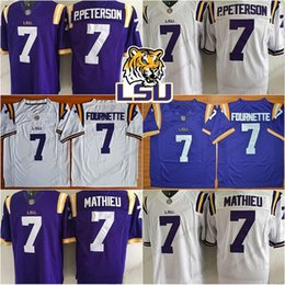 LSU Tigers NCAA Football  7 Leonard Fournette 7 Patrick Peterson P.Peterson  7 Tyrann Mathieu 5 Derrius Guice  3 Hot Sale Game Jerseys 1439ce1ee