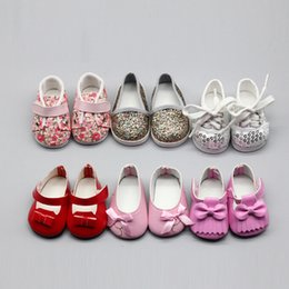 American Leather Shoes Australia - Mini Dolls Shoes 6.5cm PU Leather Shoes For Dolls 43cm BJD Doll And 18inch Inch American Doll Giant Baby Accessories