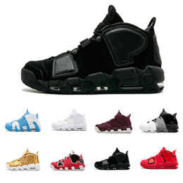 2e68bd15a9f 2018 New Uptempo QS 96 Scottie Pippen Triple White Olympic Gym Red Flax Men Basketball  Shoes 3M Scottie Pippen Sports Sneakers size 40-47