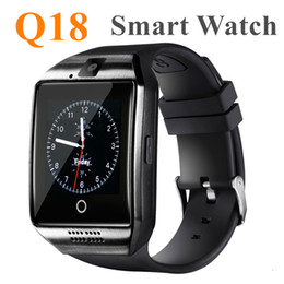 Bluetooth Smart Watch Sim Australia - Q18 Bluetooth Smart Watch Support SIM Card NFC Connection Health Smartwatches For Android Smartphone With Rectangle Package