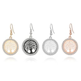$enCountryForm.capitalKeyWord UK - 4 Colors Fashion Crystal Tree of Life Charms Earrings Hollow Plant Dangle Earings Jewelry Women Party Gift
