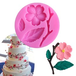 Peach Flower BranchesShaped 3D Silicone Fondant Cake Mold Chocolate Baking.TO